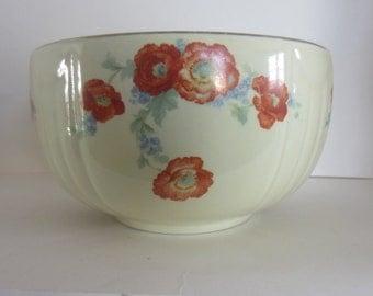 Hall China Orange Poppy Bowl