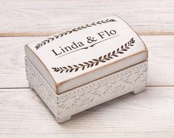 Rustic Wedding Ring Box Ring Bearer Box Wedding Ring Box Ring Holder Shabby Chic Wedding Ring Box  Custom Ring Box Personalized Wedding Box