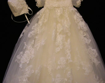 Nicole's Custom Christening or Baptism Gown made to order from your Wedding Dress