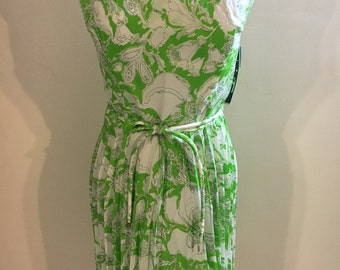 1960s new pleated summer dress