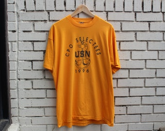Vintage CPO SELECTEES Shirt 1996 United States Navy Armed Forces Army Chief Petty Officer