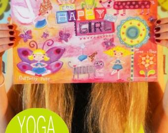 "Yoga Poster Printable, DIY Yoga Party, Yoga Loot-bag ideas, Yoga Party, yoga girl, yoga print 8.5 x 11"""