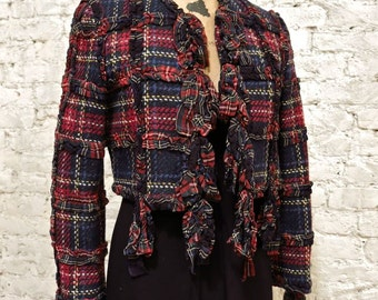 90s Moschino Cheap and Chic Tartan Jacket - Amazing Piece