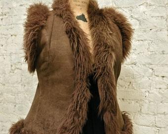 60s Shearling Fur Vest