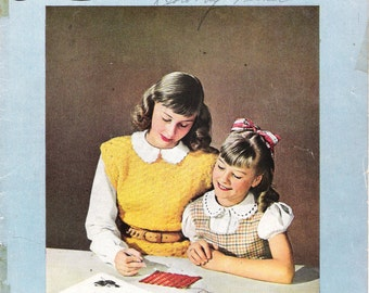 "Vintage 1946 Book No. 233 ""Learn To Crochet"" Clark's O.N.T J & P Coats Pattern Booklet"