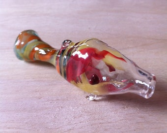 Tropical pipe etsy for Glass fish pipe