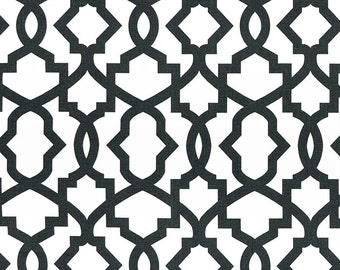 1/2 yard Charcoal Sheffield - Soft Black White  - Home Decor Fabric  - Premier Prints  - fabric by the yard