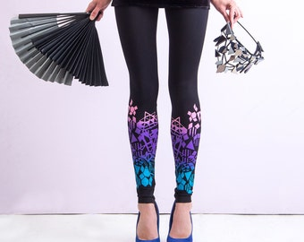 Colourful Crystals - leggings