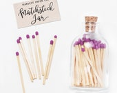 Violet Matchstick Jar™. Purple matches. Colored matches. Long matches. Stocking Stuffer. Christmas gifts. Gifts for her. Hostess gift.