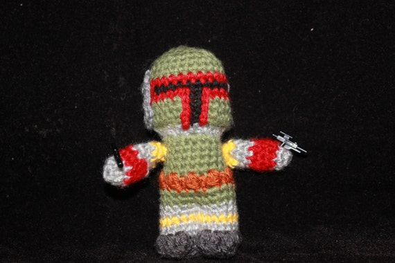 Boba Fett Crochet Doll Star Wars Amigurumi Photo Prop