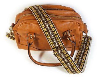 Guitar Strap Style Handbag Strap - Earth Tones Vintage Style - Adjustable Bag Strap for handbags and messenger bags - Purse NOT Included