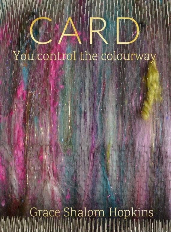 CARD Drum Carding Book - Drum Carding (Art Batt and Smooth Batt) Tutorial - Fiber Prep Pattern