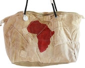 Ali Lamu Small Weekend Bag Natural AFRICA Red