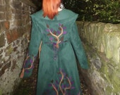Custom Long Bustle Coat for Carmel