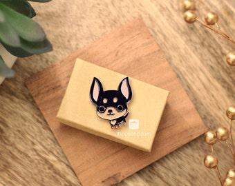 Chihuahua Pin (Black and Tan Chi)