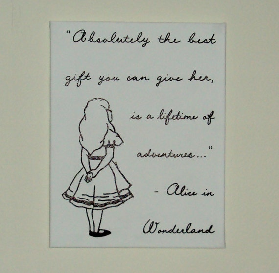 Disney Alice In Wonderland Quote: Baby Nursery Art Disney Character Quote Alice In