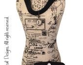 Velvet Choker Necklace with Monogram Initial