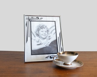 Antique 9x11 Art Deco Picture Frame 1930's Shirley Temple Glass Frame