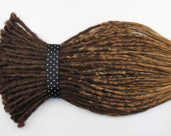 Full Set Ombre Brown Crocheted Dread. Double, Single Ended Dreads or Mix, 20 inches.