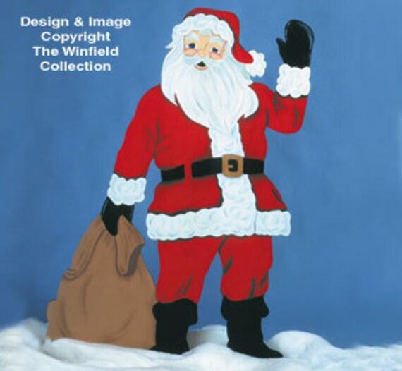 Christmas Decorations Life Size Santa: Christmas Santa Mr. Claus Life Size Wood Outdoor Yard Art