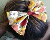 Sunflower Patch - Fall Fabric Hairbow - Adult/Teen