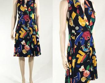 Vintage Louis Frraud Print Dress