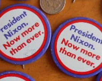 Anti-Trump Richard Nixon Re-election Campaign Button 1972