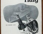 Haig, Dimple, whisky, 1935, vintage, ad, original, drink, alcohol, ship, English, free shipping, paper, ephemera