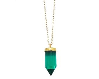 Quartz Point Necklace, Quartz Crystal Necklace, Quartz Necklace, Spike Necklace, Spike Pendant
