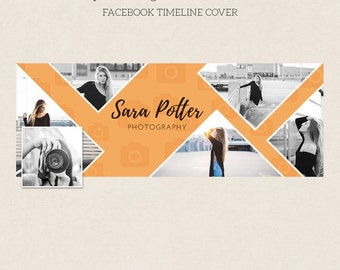 Facebook Timeline Cover - Facebook Timeline Template - PSD Template - Customize Facebook Page - Instant Download - F224