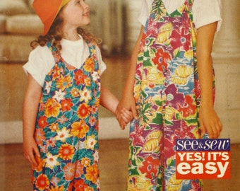 Child's and Girls' Jumpsuit Sewing Pattern / Butterick Pattern 3425