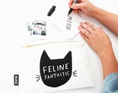 Feline Fantastic Pouch - Cat Lady Gift - Animal lover