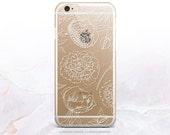 iPhone 7 White Peonies Clear Rubber Case iPhone 7 Plus Clear Case iPhone 6 Clear Case iPhone 6S Case iPhone SE Case Samsung S7 Edge Case U34