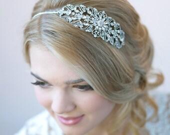 Vintage Wedding Headband, Bridal Hair Accessory, Vintage Bridal Headband, Rhinestone Wedding Headpiece, Antique Wedding Headpiece ~TI-3274
