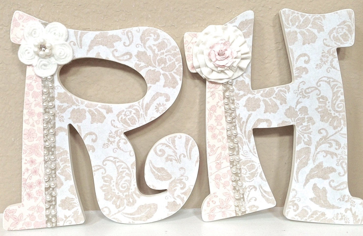 Nursery letters baby name art custom nursery room decor any for Baby name letters for nursery