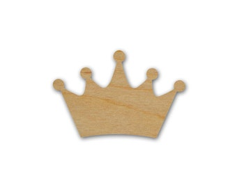 King Crown Shape Unfinished Wood Craft Cutout Variety of Sizes - Artistic Craft Supply