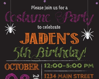 On Sale HALLOWEEN birthday PARTY INVITATION costume party