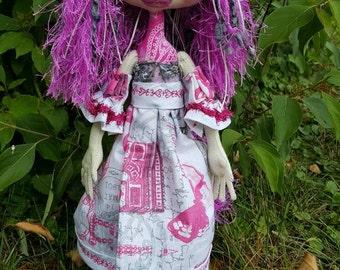 Cloth Doll - Cloth Art Doll - Unicorn Cloth doll -  Art Doll - OOAK Unicorn Doll - Textile Doll - Fabric Art Doll - Sculpted Cloth Doll