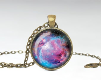 Orion Necklace, Orion Galaxy Jewelry, Nebula Pendant [A36]