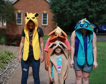 Pokemon Hats Eeveelution Scoodies Eevee Cosplay Jolteon Flareon Vaporeon Costume Gijinka