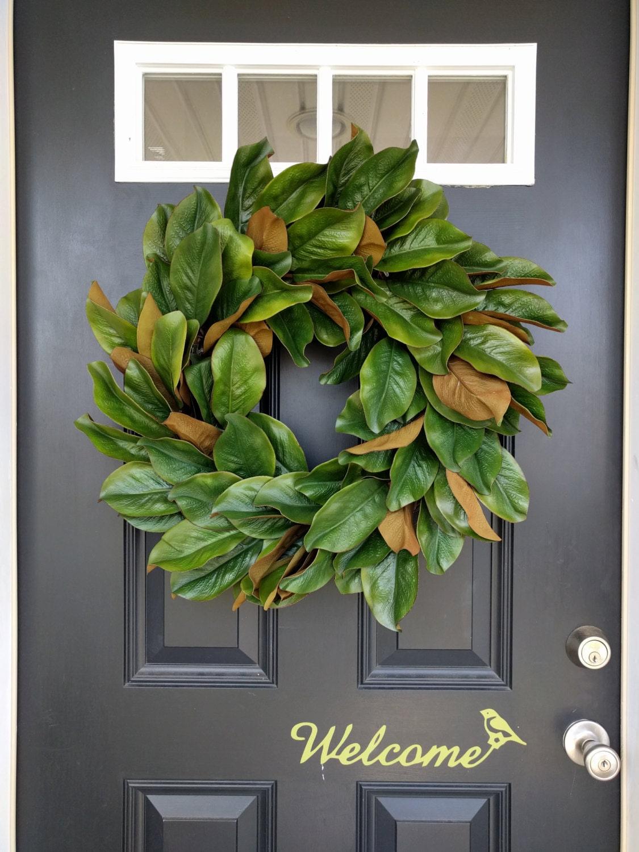 Magnolia Leaf Wreath: Magnolia Wreath Rustic Wreath Front Door Wreath Fall