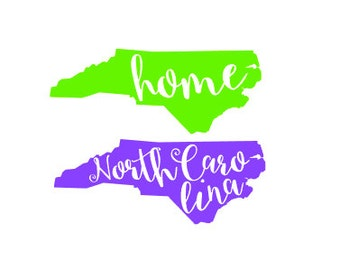 North Carolina Decal Etsy