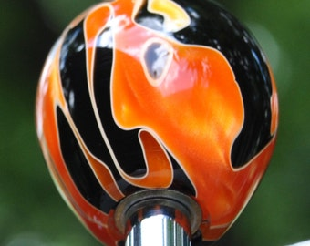"Custom Hand Made Arcade Stick Joystick Sanwa Acrylic Ball Top ""Blaze"""