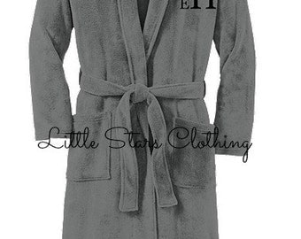 Monogrammed Plush Microfleece Shawl Collar Robe-Monogrammed Robes, Personalized Robes, Embroidered Robes, Monogrammed Bridesmaid Gift
