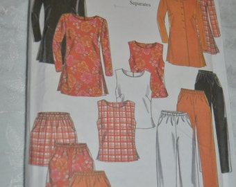 New Look 6597 Misses Top Pants and Shorts Sewing Pattern - UNCUT- Size 8 - 18