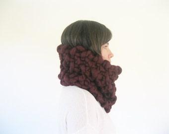 Super Chunky Knit Merino Wool Scarf | Super Chunky Scarf | Chunky Knit Scarf | Thick Cowl Scarf