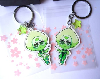 Peridot Double-sided Key Chain