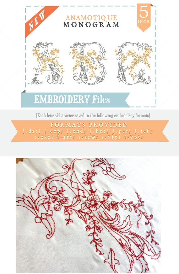 anamotique antique monogram embroidery font  alphabet by anamored
