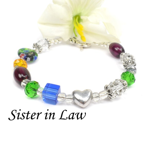 Sister in Law Poem Bracelet, Sister in Law Christmas Gift A104