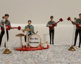 Vintage Cake Topper Go Go Singers Fab Four